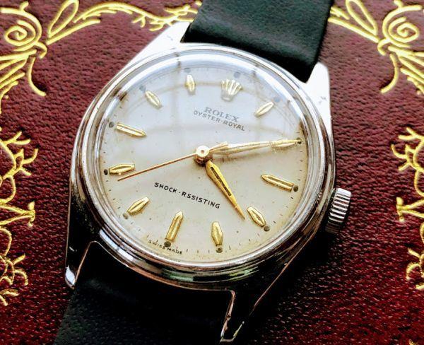 ★ROLEX★ロレックス オイスターパーペチュアル モデルナンバー4444 手巻き腕時計 アンティークウォッチ 中古 メンズ 1940年代 送料無料