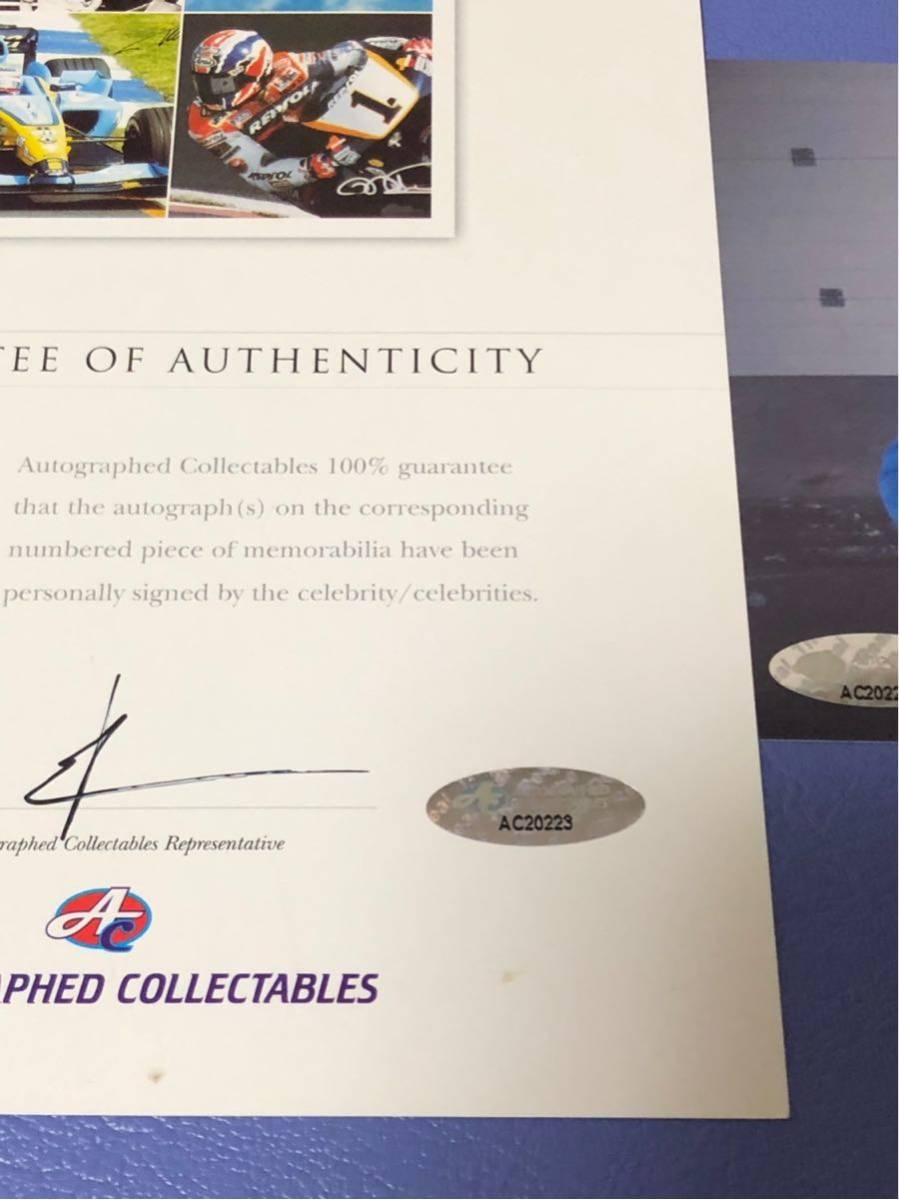 バレンティーノ・ロッシ直筆サイン入りヘルメット世界限定46個(証明書付き)_画像7