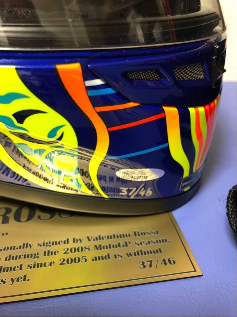 バレンティーノ・ロッシ直筆サイン入りヘルメット世界限定46個(証明書付き)_画像3