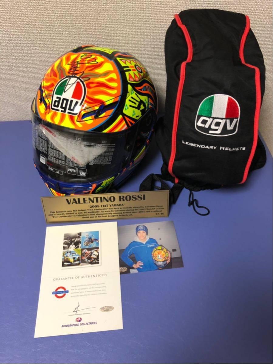 バレンティーノ・ロッシ直筆サイン入りヘルメット世界限定46個(証明書付き)_画像1