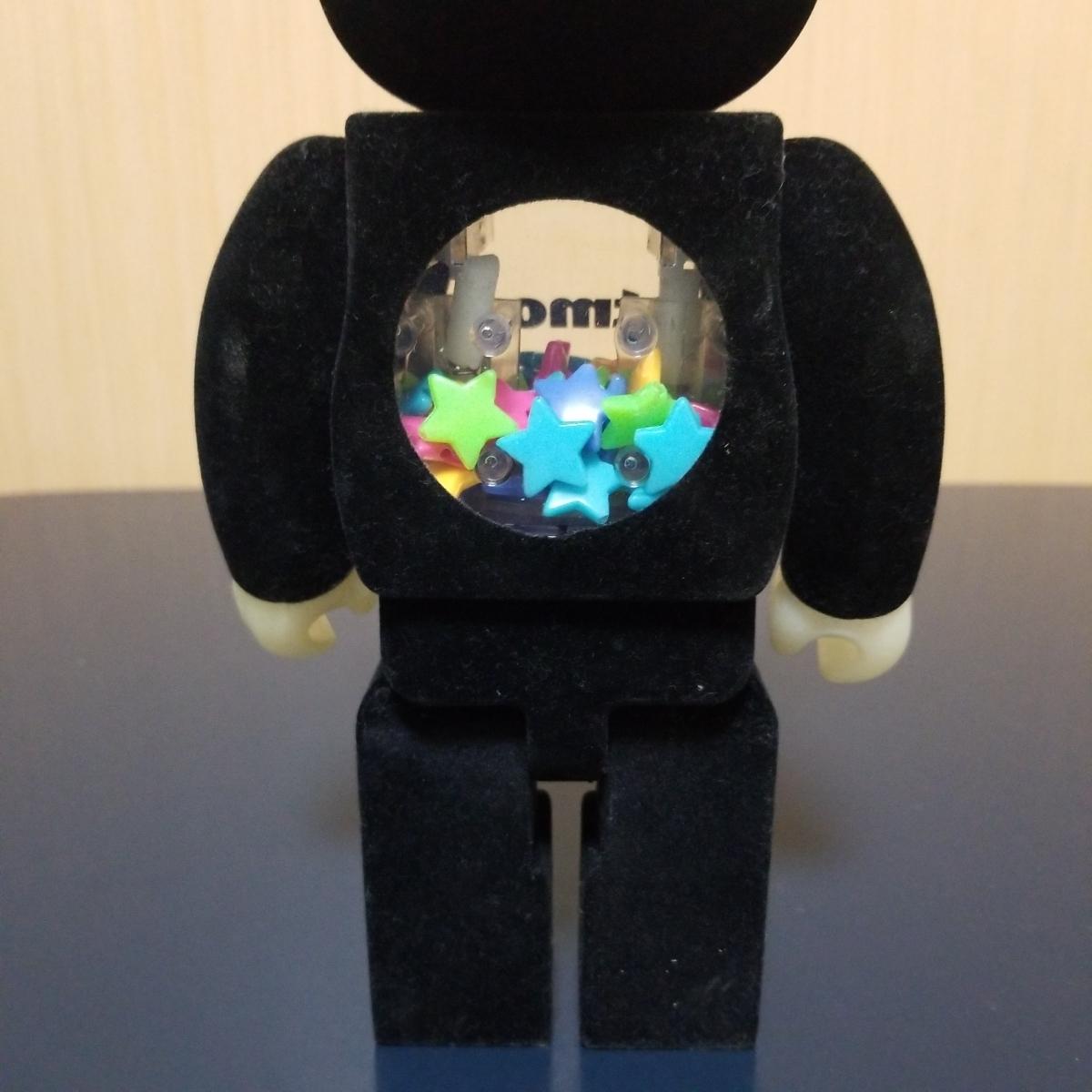 メディコムトイ BE@RBRICK ベアブリック アトモス atmos 10周年記念モデル 400% フロッキー 蓄光_画像6