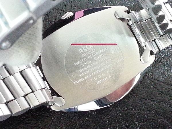 大野時計店 キングセイコー スペシャル 5246-6000 自動巻 1971年6月製造 クロノメーター 絹目文字盤 希少_画像6