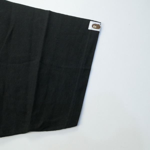 A BATHING APE ア ベイシング エイプ ×STUSSY 30周年記念ストックカモTシャツ 黒青 Size【XL】 【新古品・未使用品】_画像4