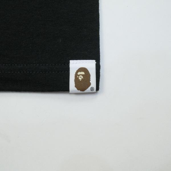 A BATHING APE ア ベイシング エイプ ×STUSSY 30周年記念ストックカモTシャツ 黒青 Size【XL】 【新古品・未使用品】_画像5