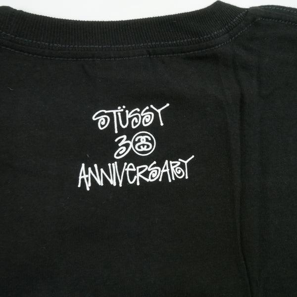 A BATHING APE ア ベイシング エイプ ×STUSSY 30周年記念ストックカモTシャツ 黒青 Size【XL】 【新古品・未使用品】_画像3