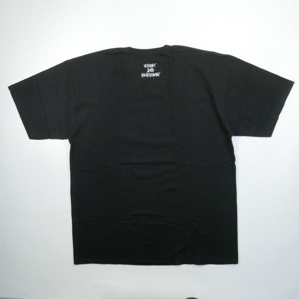 A BATHING APE ア ベイシング エイプ ×STUSSY 30周年記念ストックカモTシャツ 黒青 Size【XL】 【新古品・未使用品】_画像2