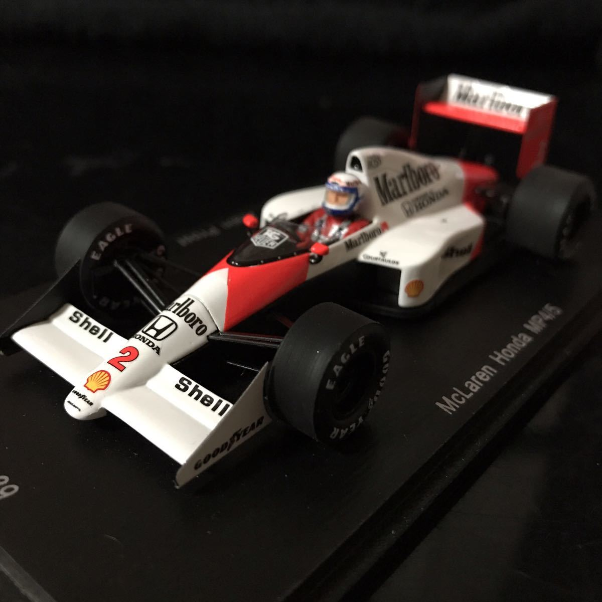 ES別注 スパーク 1/43 ホンダ マールボロ マクラーレン MP4/5 #2 A.プロスト 1989 ワールドチャンピオン マルボロ仕様_画像2