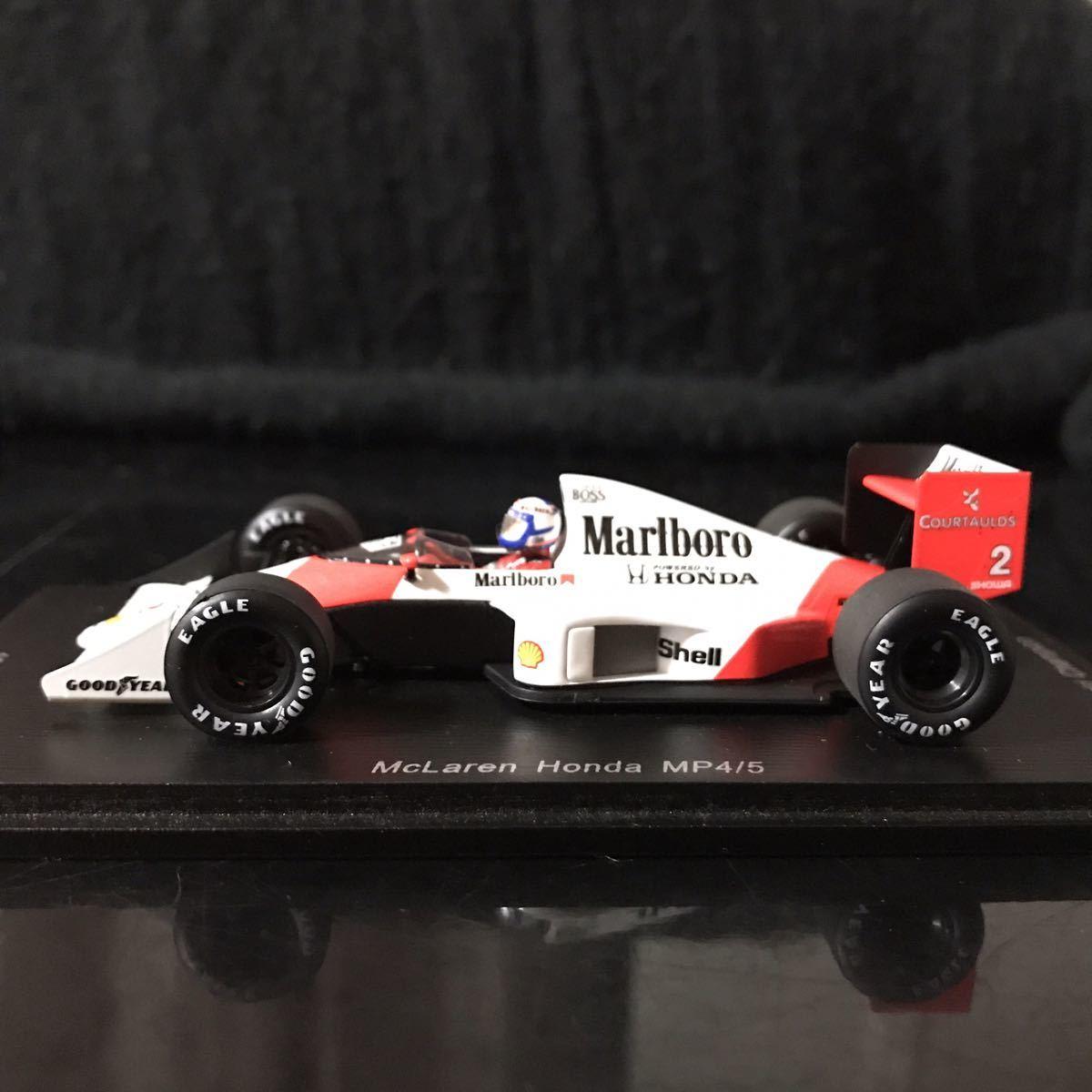 ES別注 スパーク 1/43 ホンダ マールボロ マクラーレン MP4/5 #2 A.プロスト 1989 ワールドチャンピオン マルボロ仕様_画像4
