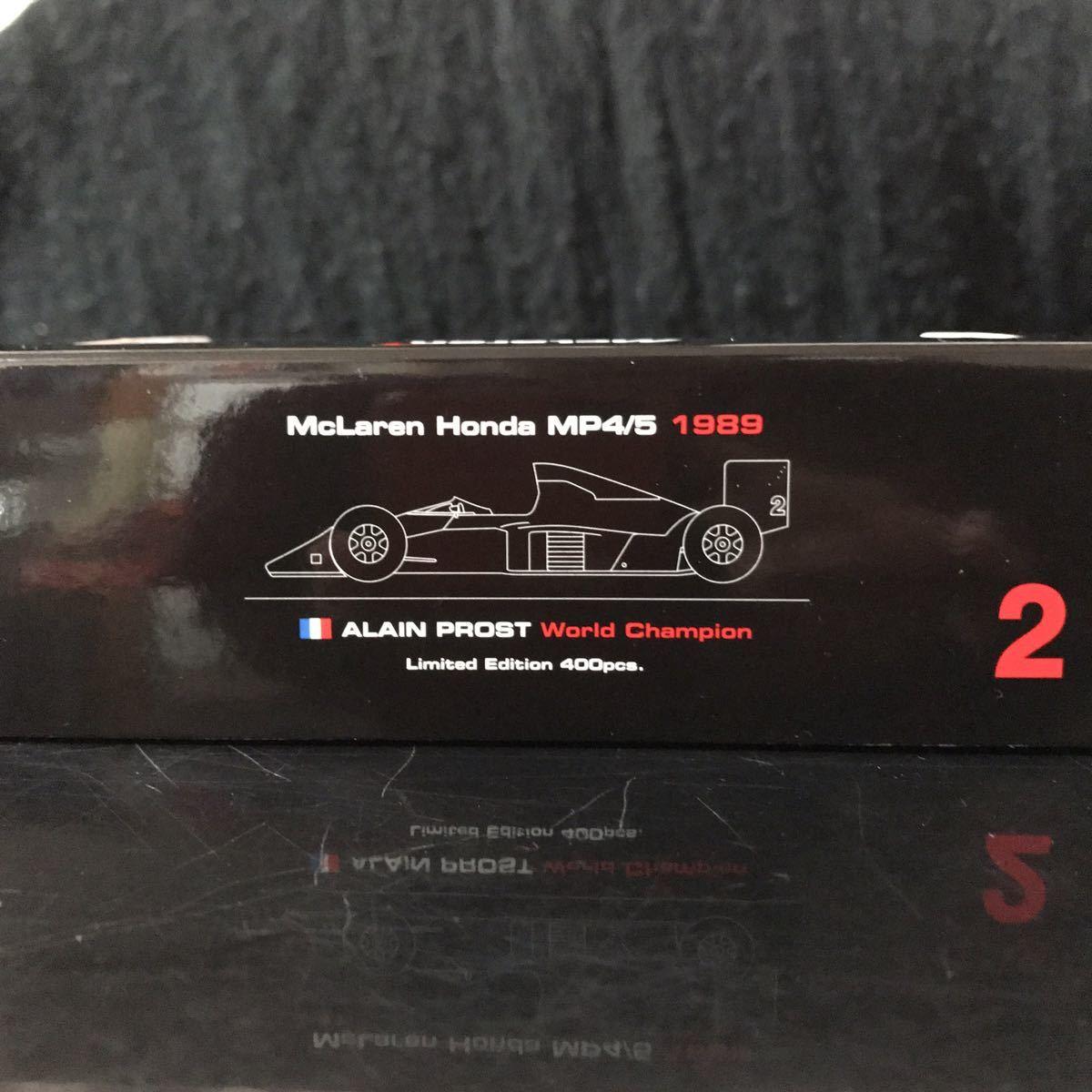 ES別注 スパーク 1/43 ホンダ マールボロ マクラーレン MP4/5 #2 A.プロスト 1989 ワールドチャンピオン マルボロ仕様_画像10