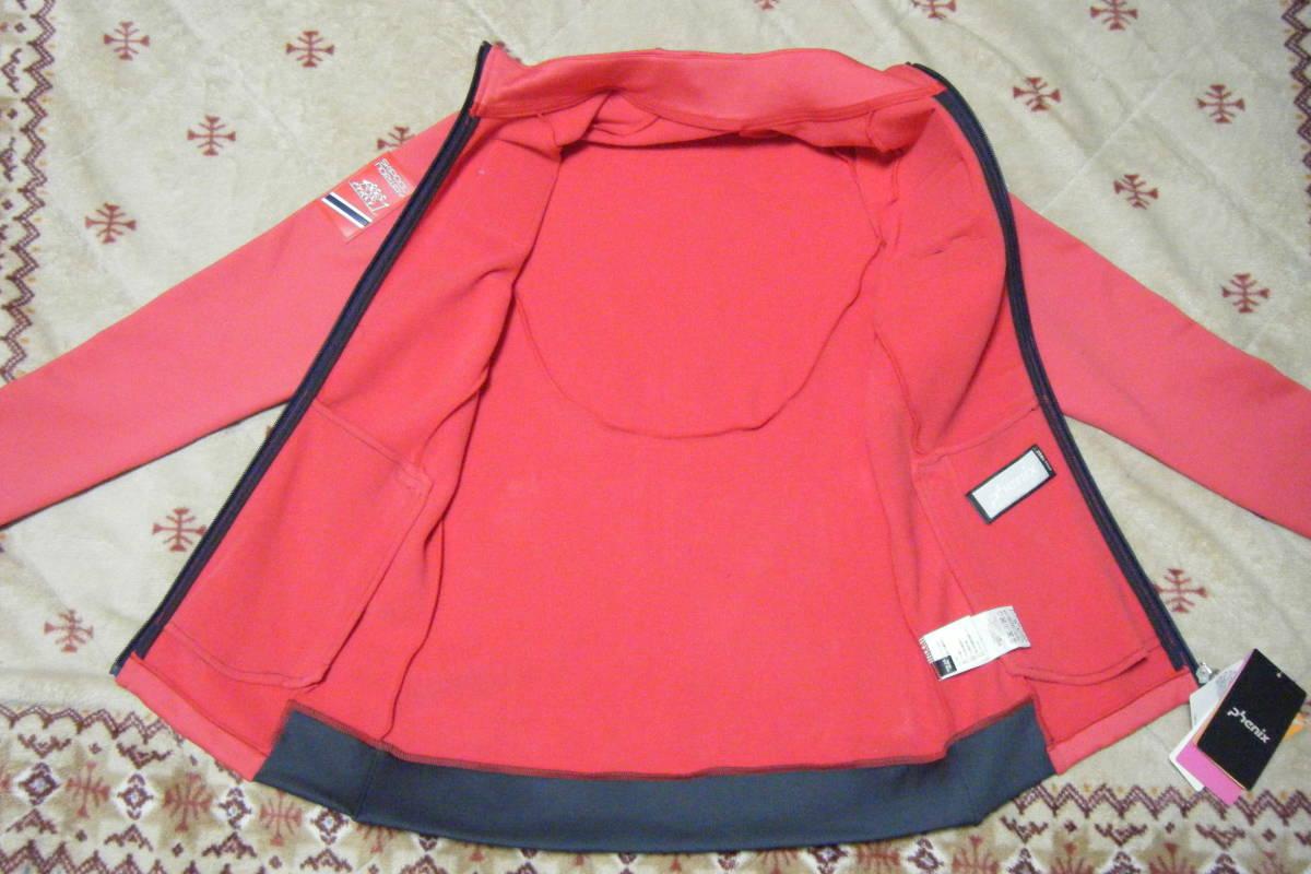 フェニックス phenix Air Light Women's Fleece 高機能フリースジャケット・ミドラー サイズ L スポンサーワッペン付 定価 23,760円_画像6