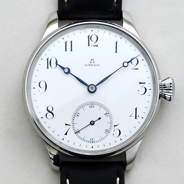 オメガ★OMEGA アンティーク エナメルダイヤル バックスケルトン 手巻き 腕時計★ヴィンテージ メンズ ウォッチ 1910年代製 送料無料