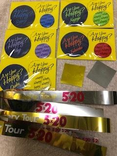 新品未開封◆嵐 会場限定バッジセット 全会場5色セット ◆& 5×20金・銀テープ・落下物