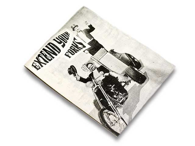 【JUNK PRODUCTS by HARLEY CARRARA & CHASE STOPNIK】EXTEND YOUR FORKS/CYCLE ZOMBIES/サイクルゾンビーズ/ED ROTH/エドロス/ハーレー_画像1