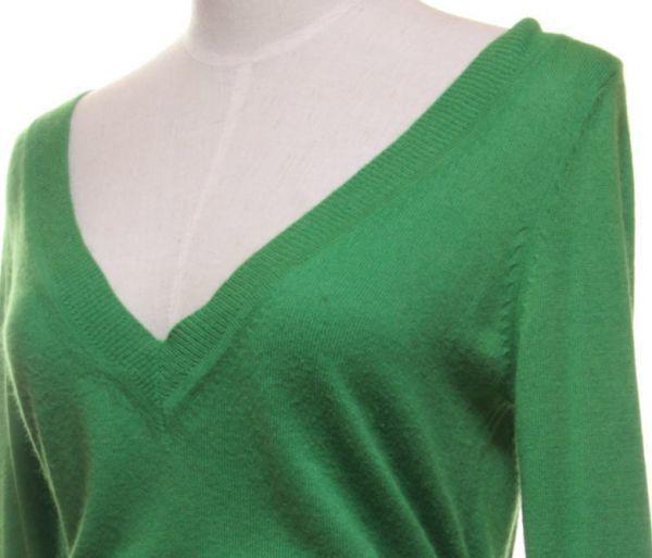★ac910☆ ロペピクニック ROPE' PICNIC アンゴラ混 長袖 ニット緑 深Vネック きれい色 グリーン レディース トップス_画像5