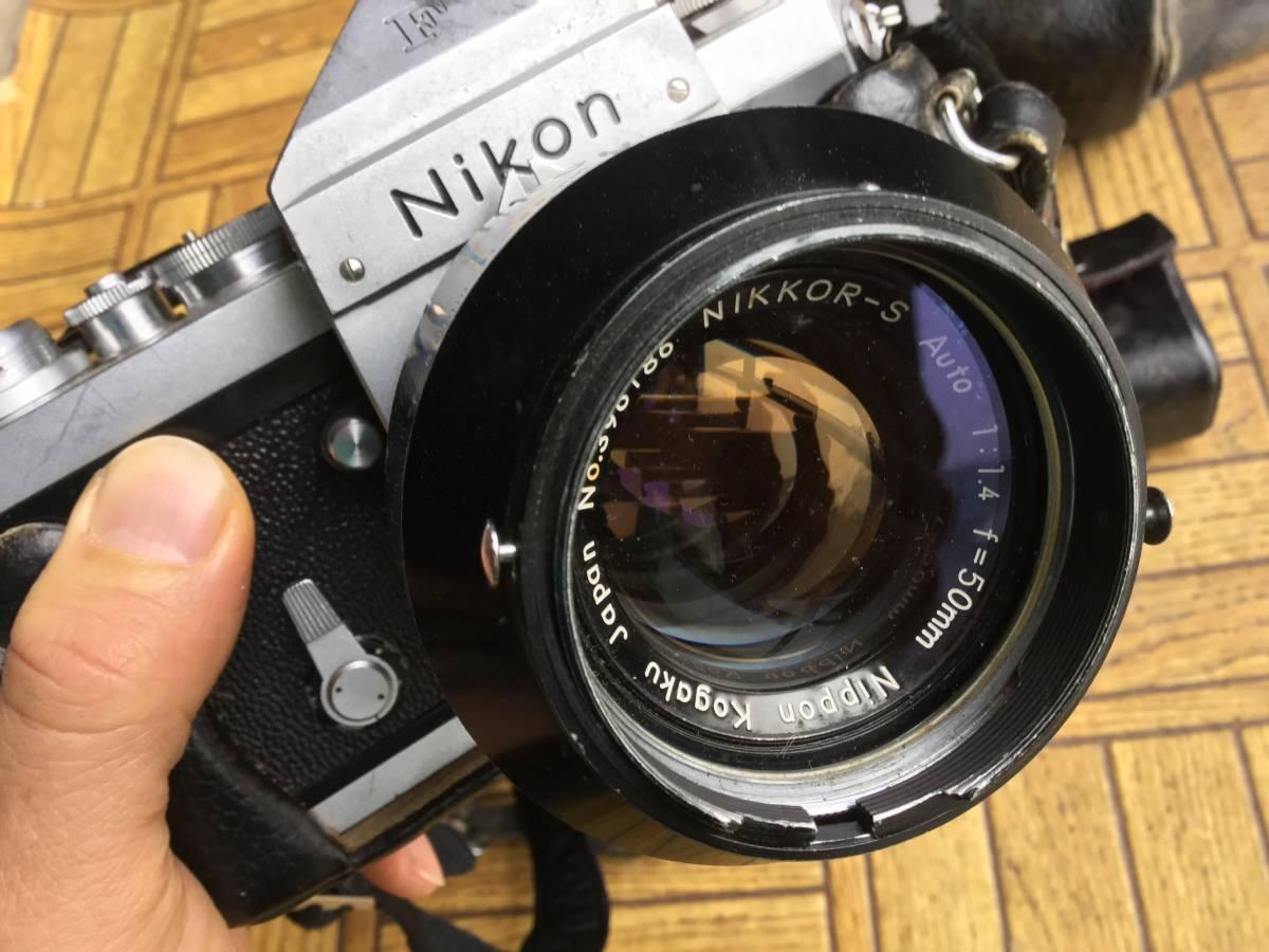 Nikon フィルム一眼レフカメラ NIkon F ニコンF ボディ レンズ5本 他付属品 (ジャンク)_画像2