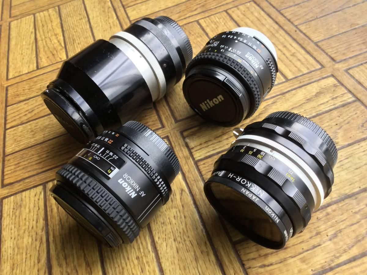 Nikon フィルム一眼レフカメラ NIkon F ニコンF ボディ レンズ5本 他付属品 (ジャンク)_画像6