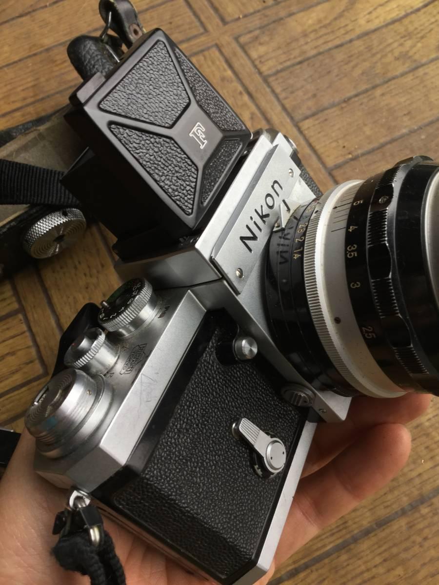 Nikon フィルム一眼レフカメラ NIkon F ニコンF ボディ レンズ5本 他付属品 (ジャンク)_画像4
