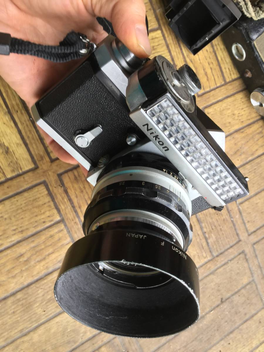 Nikon フィルム一眼レフカメラ NIkon F ニコンF ボディ レンズ5本 他付属品 (ジャンク)_画像5