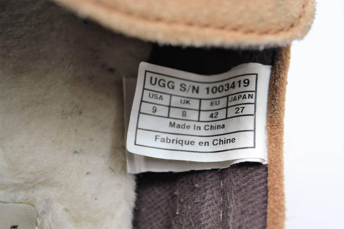 UGG Australia アグ オーストラリア メンズ 27cm スリッポン モカシン ローファー スエード Uチップ シープスキン sheepskin_画像7