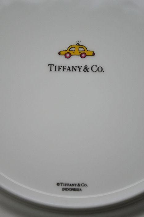 美品!【TIFFANY&CO.】ティファニー 5TH アベニュー マグカップ ペア2個 デザートプレート 2枚セット_画像9