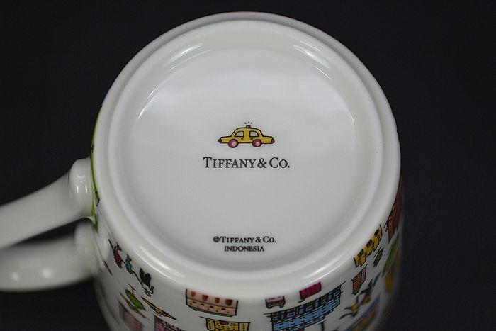 美品!【TIFFANY&CO.】ティファニー 5TH アベニュー マグカップ ペア2個 デザートプレート 2枚セット_画像6