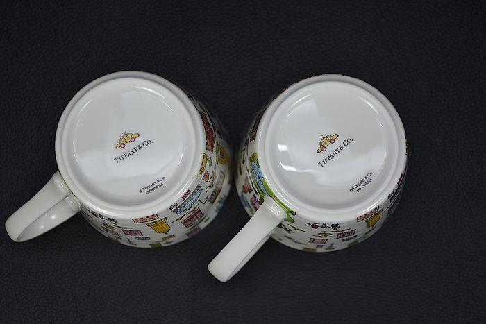 美品!【TIFFANY&CO.】ティファニー 5TH アベニュー マグカップ ペア2個 デザートプレート 2枚セット_画像5