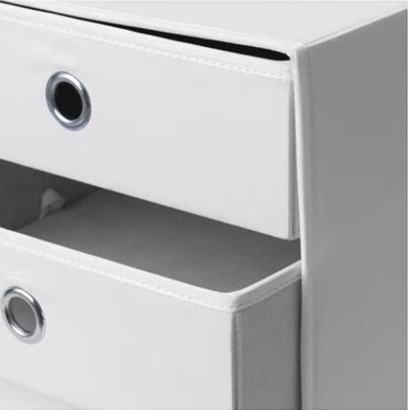 ☆ IKEA イケア ☆ FLARRA ミニチェスト(引き出し×3), ホワイト < サイズ 33x38 cm> u ☆_画像2