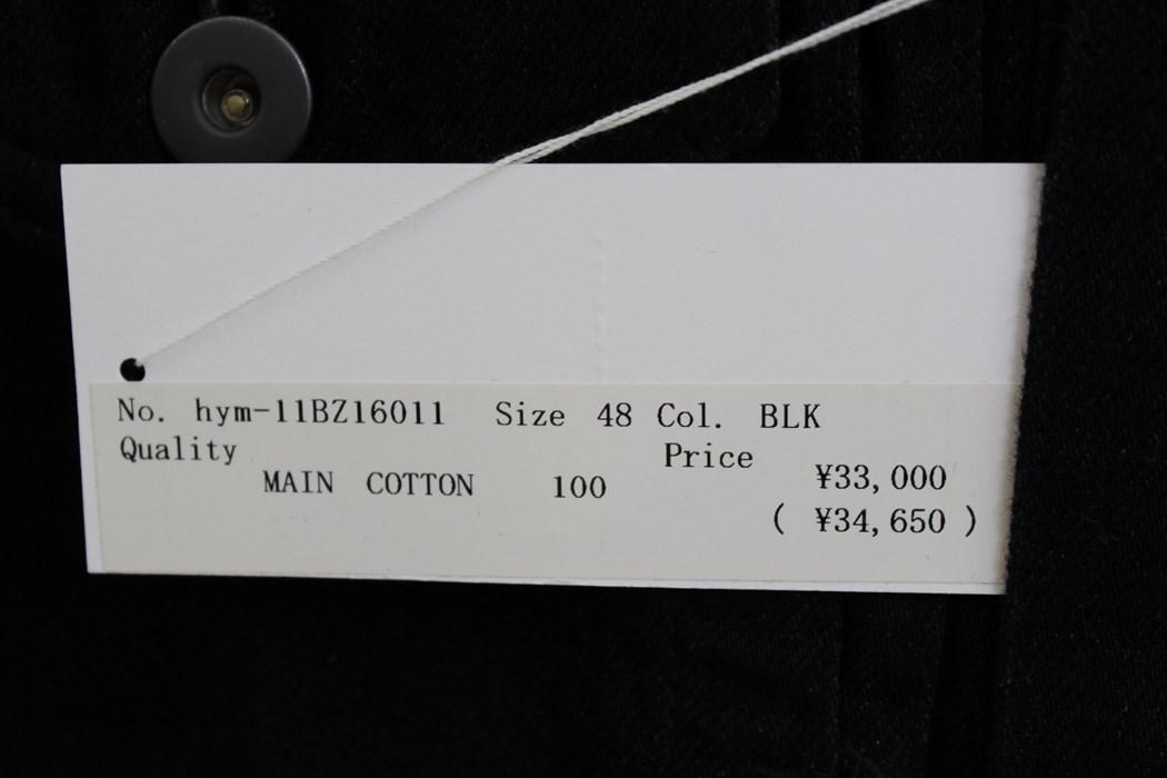 エイチワイエム hym メンズデニムジャケット ブラック サイズ48 日本製 新品 ジージャン_画像4