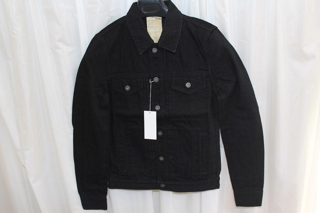 エイチワイエム hym メンズデニムジャケット ブラック サイズ48 日本製 新品 ジージャン_画像1