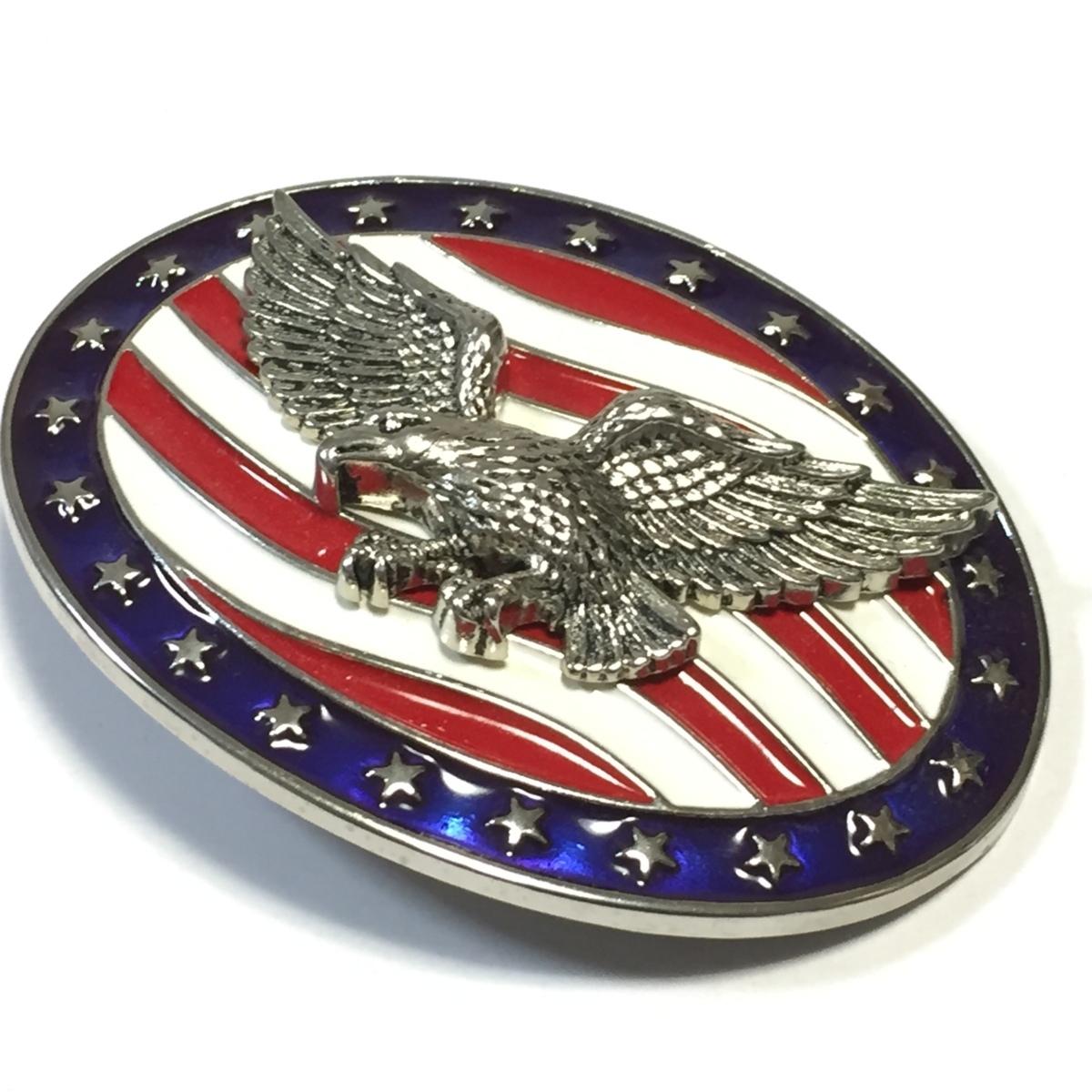 【ベルト用バックル】星条旗 アメリカ アメリカンイーグル 鷲 タカ ワシ バックル ロック バイカー バックルのみの販売です_画像3