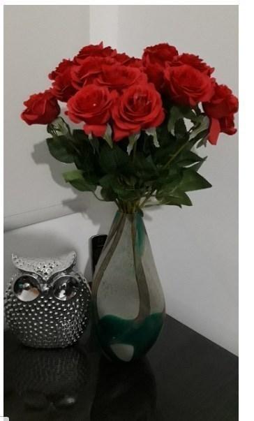 【新品】大量25本 バラ 高級造花 アートフラワー シルクフラワー 花束 薔薇 ローズ アレンジメント ブーケ プレゼント お祝い 結婚式 赤_画像3