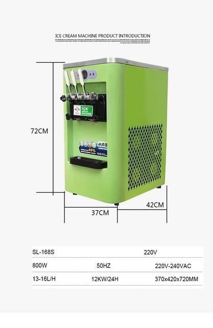 アイスクリームメーカー 業務用 3種類の味 商業用 ソフトアイスクリームマシン 13-16L/h 800W 複数台納入可能 領収書発行可 飲食店法人_画像3