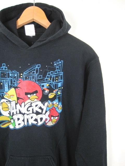 ANGRY BIRDS アングリーバード スウェットパーカー ブラック 黒 メンズSサイズ キャラクター hs-4791_画像1