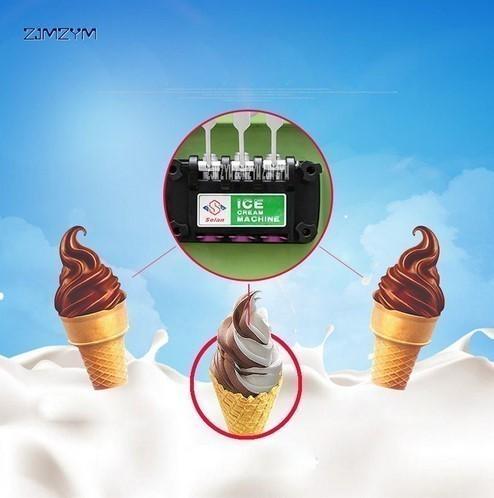 アイスクリームメーカー 業務用 3種類の味 商業用 ソフトアイスクリームマシン 13-16L/h 800W 複数台納入可能 領収書発行可 飲食店法人_画像4