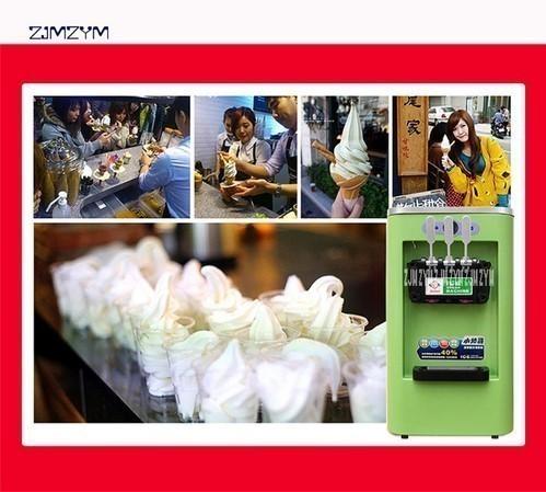 アイスクリームメーカー 業務用 3種類の味 商業用 ソフトアイスクリームマシン 13-16L/h 800W 複数台納入可能 領収書発行可 飲食店法人_画像6