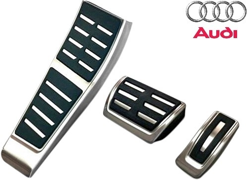 【M's】アウディ A6/A7 4G(2011y-)純正品 S-Tronic用 ペダル&フットレストセット(右ハンドル用)/AUDI Sトロニック ペダルセット 411040_画像1