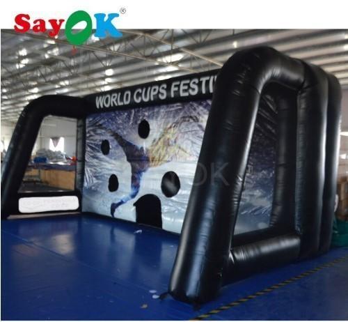 エアーサッカーゴール 巨大 632.7m 電動送風機付き ポータブル イベント会場 商業施設 業務用 体育館 新品_画像2