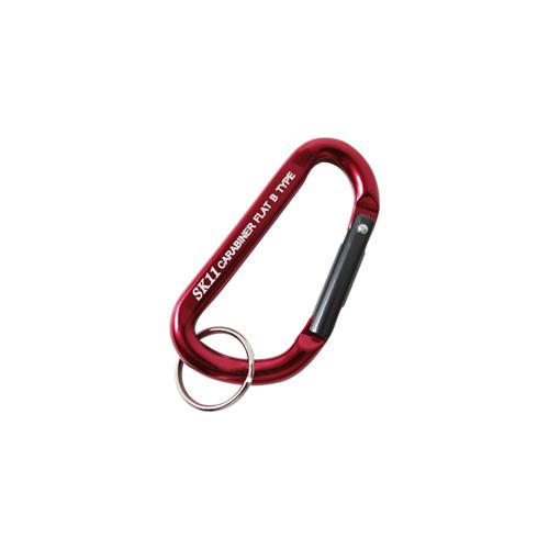 SK11・アルミカラビナ・B・SAC-550Bレッド・鍵の携帯などにどうぞ。カラビナ・幅25ミリ。クリックポスト発送可_画像1