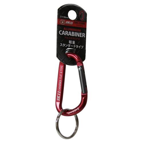 SK11・アルミカラビナ・B・SAC-550Bレッド・鍵の携帯などにどうぞ。カラビナ・幅25ミリ。クリックポスト発送可_画像2