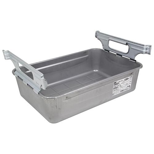 SK11・パーツボックス取手付き・M-4・容量14L・水や油などの液体漏れの心配がない、継ぎ目なしの一体絞り成型ボックスです。_画像3