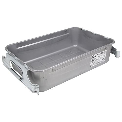 SK11・パーツボックス取手付き・M-4・容量14L・水や油などの液体漏れの心配がない、継ぎ目なしの一体絞り成型ボックスです。_画像1