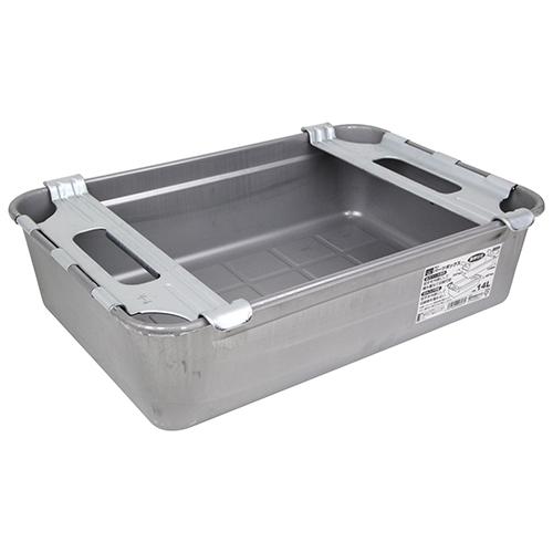 SK11・パーツボックス取手付き・M-4・容量14L・水や油などの液体漏れの心配がない、継ぎ目なしの一体絞り成型ボックスです。_画像2