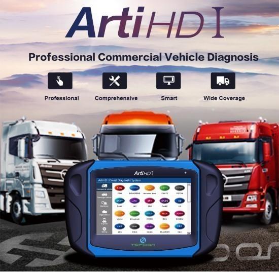 【送料無料】Topdon Arti HD I OBD OBD2 ダイアグスキャンツール トラック バス 乗用車 ECUテスト アナライザー【領収発行可】_画像2