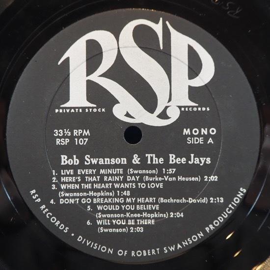 ■シュリンク美品! 素晴らしい60's POP ROCK! ★BOB SWANSON&BEE JAYS/LIVE EVERY MINUTE!★自主RSP! オリジナル名盤■_画像3