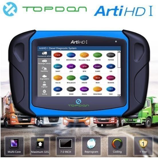 【送料無料】Topdon Arti HD I OBD OBD2 ダイアグスキャンツール トラック バス 乗用車 ECUテスト アナライザー【領収発行可】_画像1