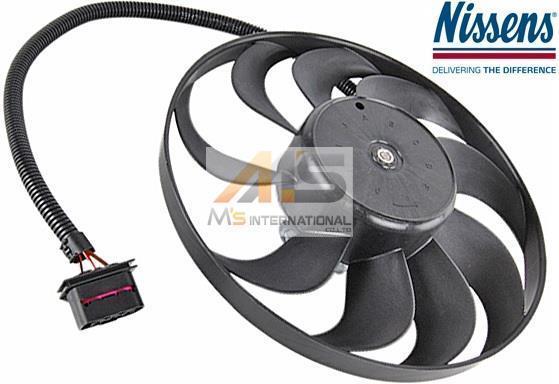 【M's】VW ポロ(9N) 二ュービートル(9C/1Y)NISSENS製 ラジエター 電動ファン(約290mm)/アディショナルファン 1C0-959-455C 1J0-959-455K_画像1
