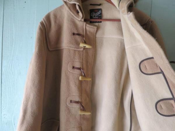 ◆ 70's イングランド製 Gloverall グローバーオール ダッフルコート XL ベージュ/ビンテージ オールド 古着 メルトンウール ビッグサイズ_画像6
