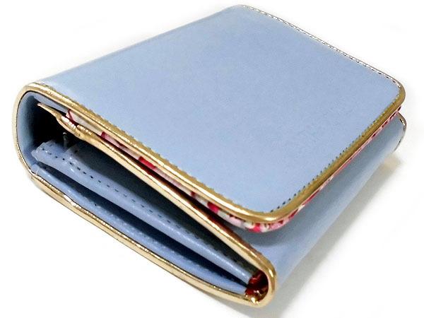 [アウトレット] シンシアローリー 展示品 牛革 二つ折り財布 ブルー CYNTHIA ROWLEY レディス 箱無し_画像3
