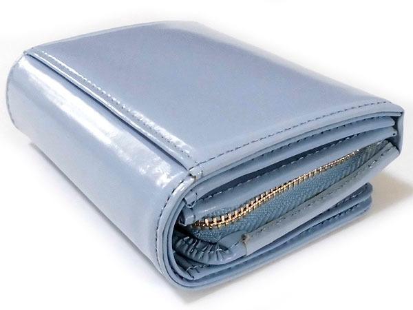 [アウトレット] シンシアローリー 牛革 エナメル 二つ折り財布 ブルー CYNTHIA ROWLEY レディス 箱無し_画像5