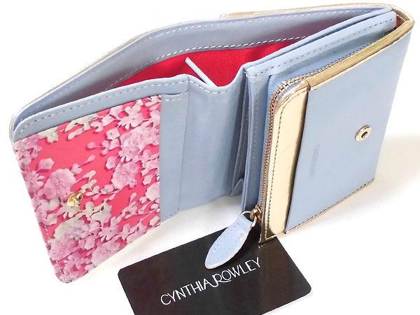 [アウトレット] シンシアローリー 展示品 牛革 二つ折り財布 ブルー CYNTHIA ROWLEY レディス 箱無し_画像5